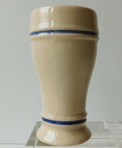 Bavarian pottery cup pot coat of arms German flag toothpick holder Oktoberfest